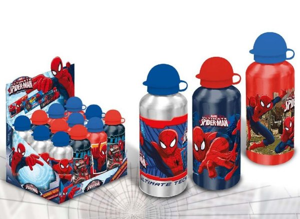 Aluminum bottle<br> Spiderman,<br>Spiderman 500ml