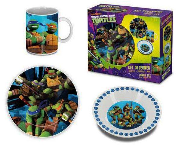 Children porcelain<br> dinnerware Ninja<br>Turtles