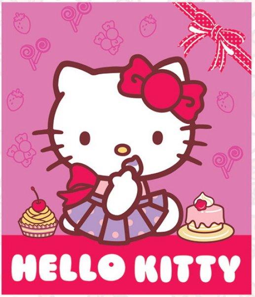 Fleece Blanket<br> Hello Kitty 120 *<br>140 cm