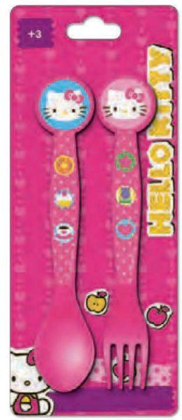 Cutlery Set -<br>2-piece Hello Kitty