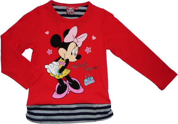 -Kinder-Langarm-T<br> Shirt Disney<br>Minnie 98-134cm