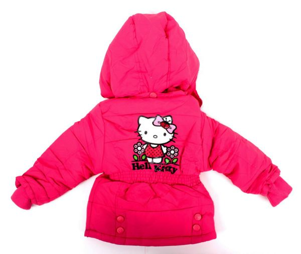 Kinder wattierte<br> Jacke Hello Kitty<br>92-116 cm