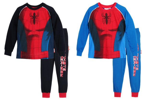Kinderschlafanzüge<br> lange Spiderman,<br>Spiderman 3-8