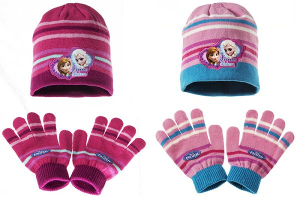 Children&#39;s<br> hats &amp; gloves<br>Set Disney frozen
