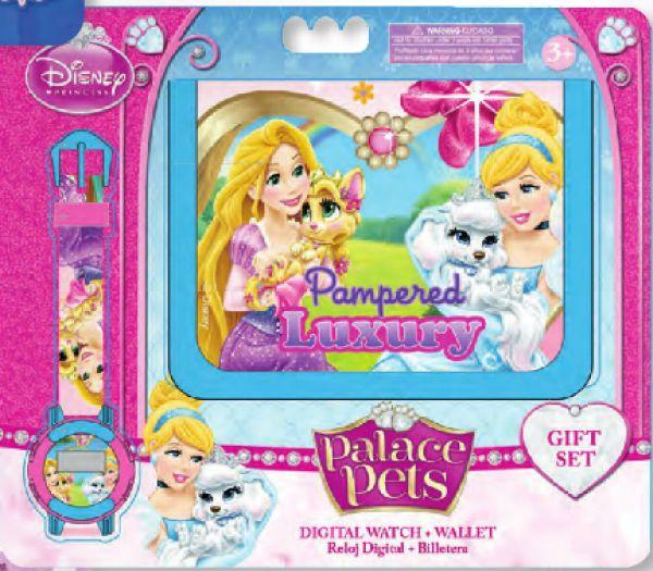 Zegarki cyfrowe +<br> portfele Disney<br>Pałac zwierzęta