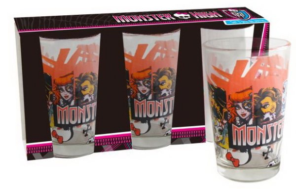 Monster High Glass<br>- Set of 3 - glass