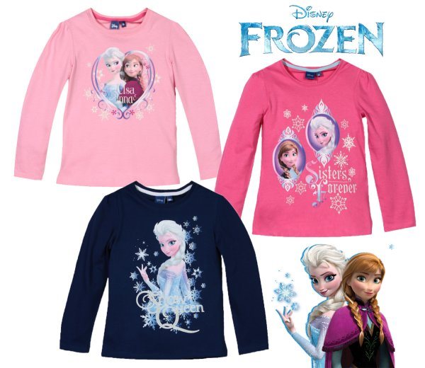 À long t-shirt<br> pour enfants, haut<br>Disney Magic Ice