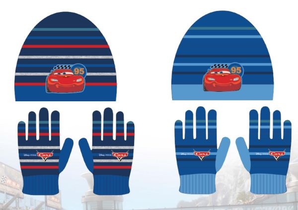 Children&#39;s<br> hats &amp; gloves<br>Set Disney Cars,