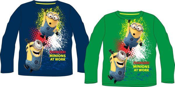 Kinder<br> Langarm-T-Shirt<br>98-128cm Minions