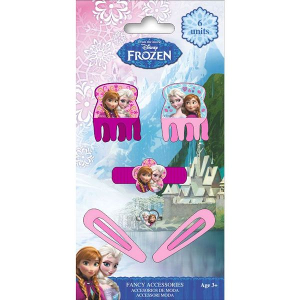 Disney Frozen,<br> frozen hair clips,<br>hair rubber set