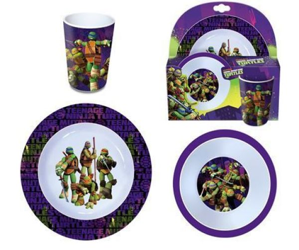 Kids melamine<br> tableware Ninja<br>Turtles