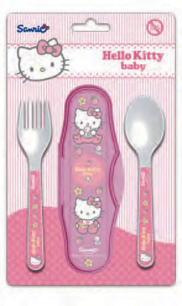 Baby travel<br>cutlery Hello Kitty