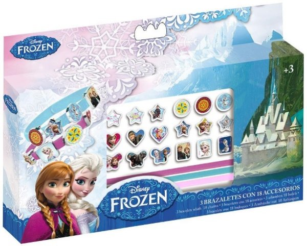 Disney frozen, kit<br> making bracelet<br>congelato