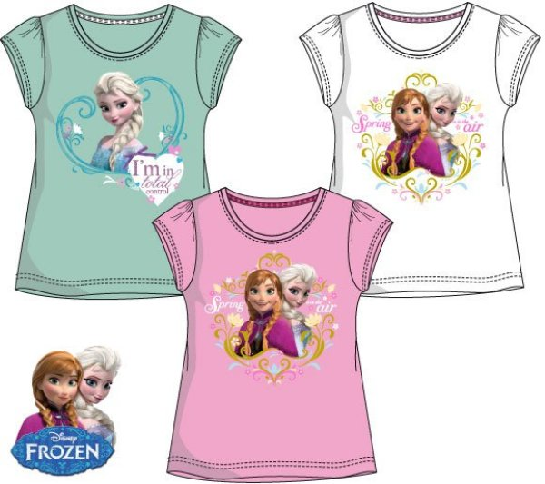 Kinder-T-Shirt,<br> Top Disney<br> Gefroren, Frozen ...