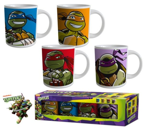 8.oz Becher Set<br> Ninja Turtles 4 *<br>(237ml)