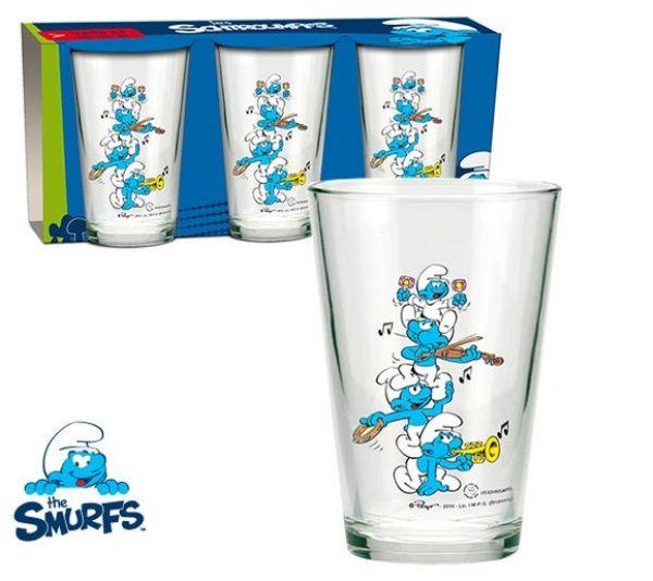 Smurfs, Smurfs 3<br> pieces - glass cup<br>set