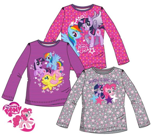 Kinder langes<br> T-Shirt, Top-My<br>Little Pony 98-128cm