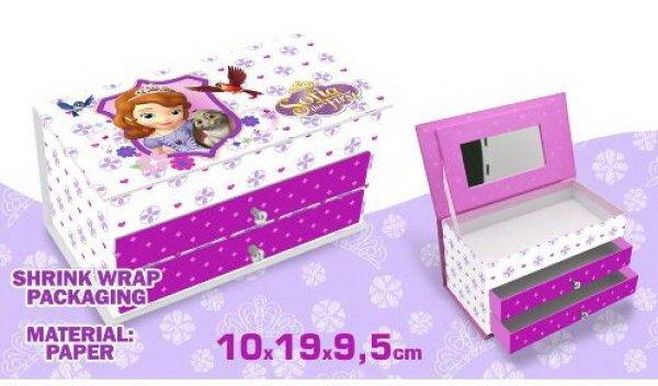 Jewellery Box<br> Disney Sofia,<br>Sofia (2 drawers)