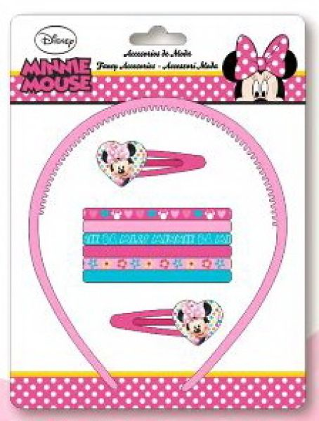 Disney Minnie hair<br>clips, headbands set