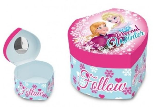 Heart Shaped<br> Jewellery Box<br>Disney frozen