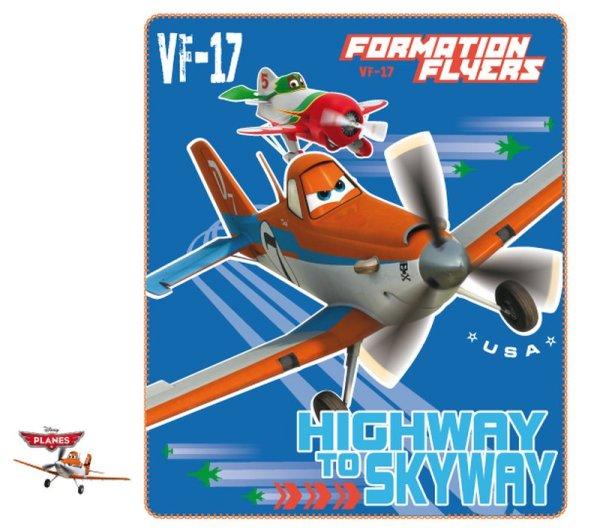 Fleecedecke Disney<br> Flugzeuge, Planes<br>120 * 140 cm