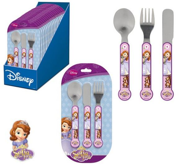 Cutlery Set -<br> 3-piece Disney<br>Sofia, Sofia