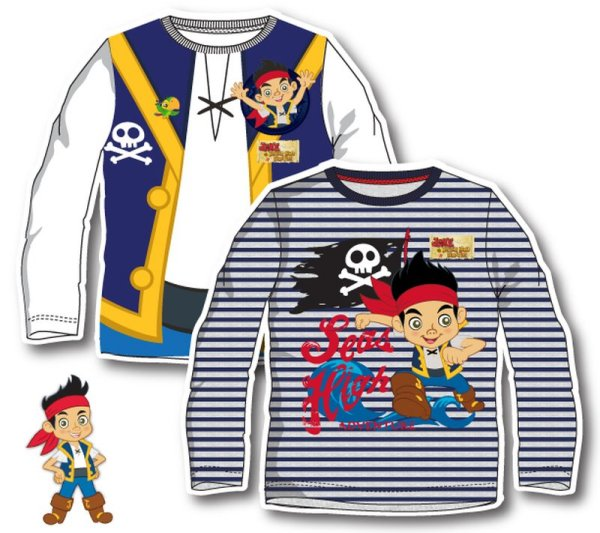 -Kinder-Langarm-T<br> Shirt, Jake und<br>Nimmerland Pirate