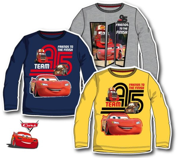-Kinder-Langarm-T<br> Shirt mit Disney<br>Cars, Autos 98-1