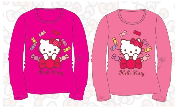 Kinder<br> Langarm-T-Shirt<br>Hello Kitty 92-116cm
