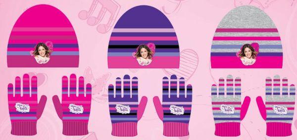 Children&#39;s<br> hats &amp; gloves<br>Set Disney Violet