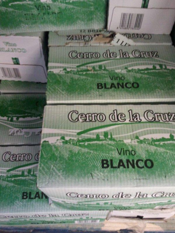 Cerro de la Cruz<br> Wine 1L Brik White<br>12