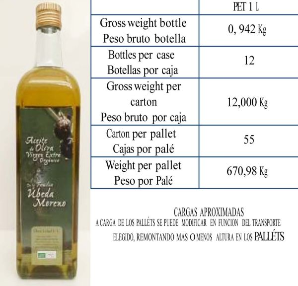 Extra Virgin Olive Oil Glass Bottle 1L