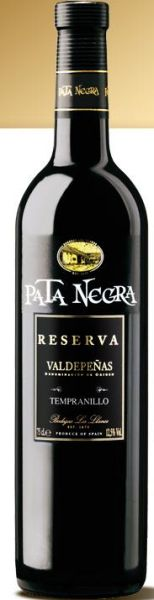 Pata Negra Reserva<br> Red wine DO<br>Valdepeñas