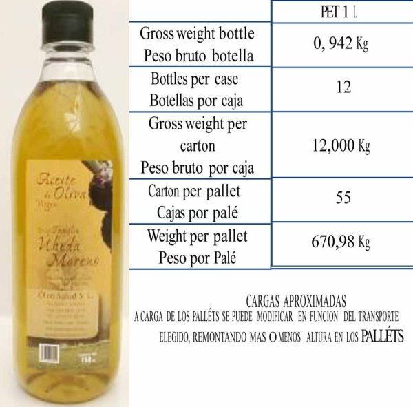 Extra Virgin Olive Oil 1L Flasche Pet Plast