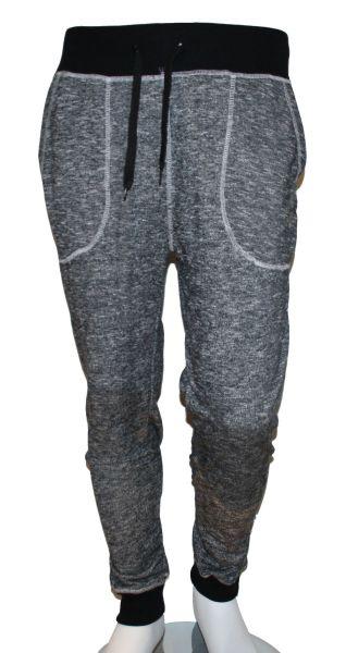 Pantalon Bas de<br> Jogging Homme<br>Tissu Chiné .S - XXL