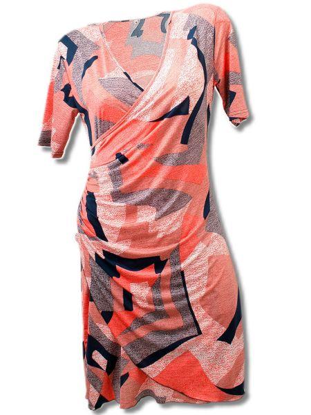 Kleid in Wickeloptik bis Gr. XXXL -rosa--