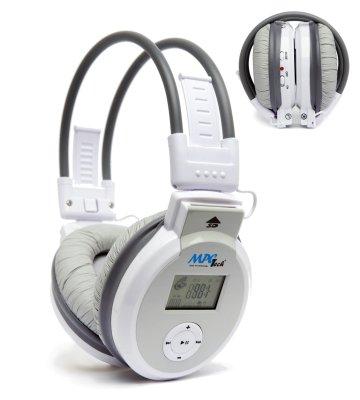 MP3 Sport<br> Kopfhörer ohne<br>Kabel mit FM-Radio