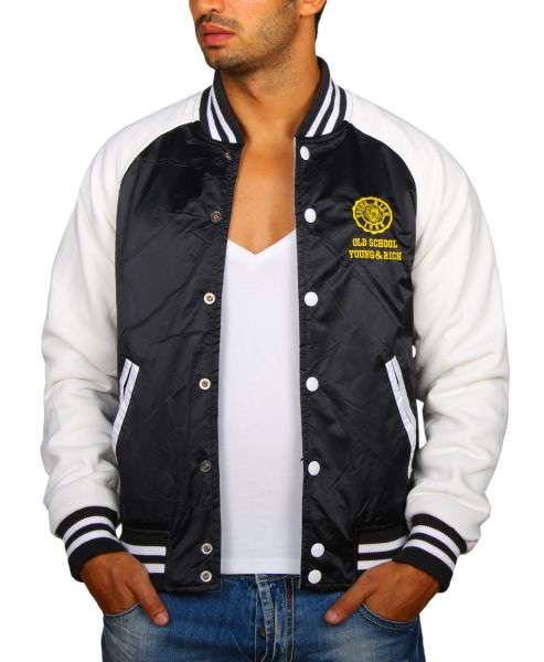 Young &amp; Rich<br> College Reversible<br>Jacket Black G