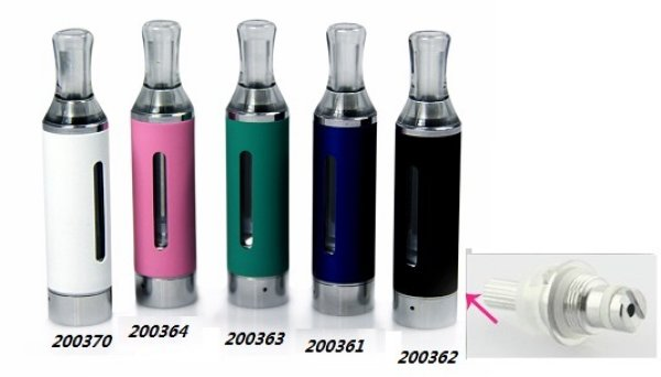 Clearomizer for e<br> cigarette with<br>bottom coil, whit