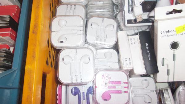Kopfhörer mit<br> Aufwickel Box für<br>iPhone u.a.