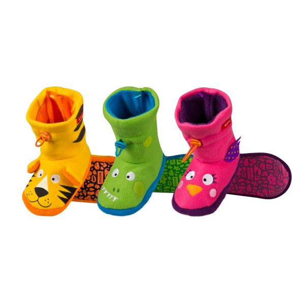 Children&#39;s<br> fleece slippers<br>ankle 3D animals