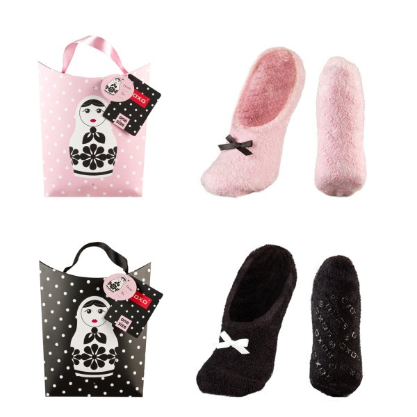 Women&#39;s<br> chenille slippers<br>SOXO bag with gifts