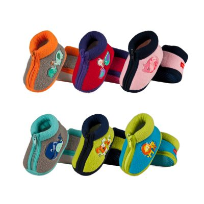 Children slippers<br> SOXO fleece with<br>zipper