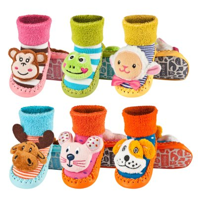 Children&#39;s<br> slippers with<br> leather soles SOXO ...