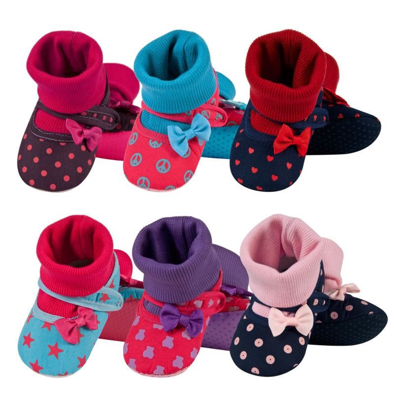 SOXO Infant slippers with a bow