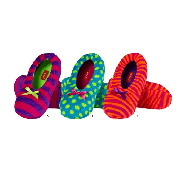 Ballerina SOXO in<br> neon colors,<br>slippers