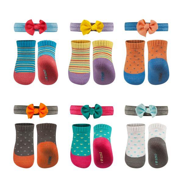 Stellen SOXO Baby<br>Socken und Stirnband