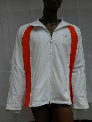 FILA Tennis Jacket<br> Biały /<br> Pomarańczowy ...