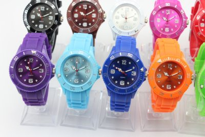 Silicone wrist<br> watch. Ice Quartz<br>Watch Silicone wa