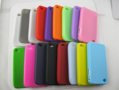 iPhone 4 4G<br> Silicone Case<br>Cover Shell Case